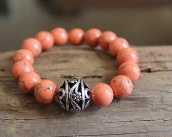 Peach Stack Bracelet