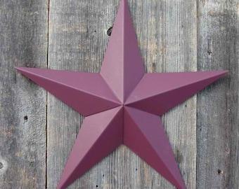 10 Inch Painted Galvanized Heavy Duty Metal Amish Tin Barn Star