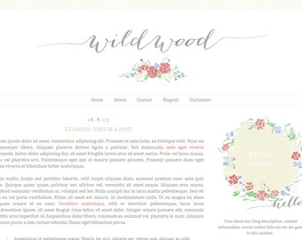 Blogger Premade Template · Wildwood · Blog Design