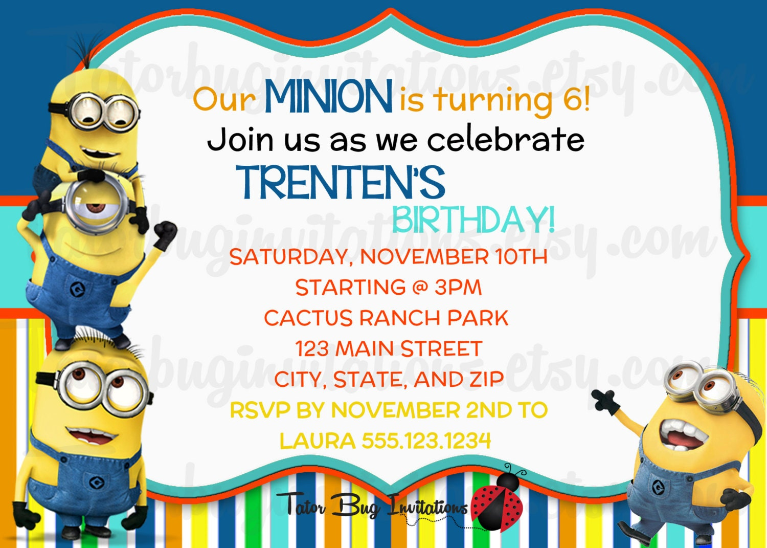 Printable Despicable Me Invitations with nice invitations ideas