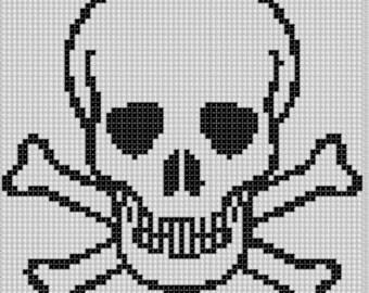 Skull and Cross Bones Cross Stitch Pattern
