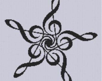 Music Harmony Peace Cross Stitch Pattern