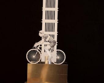 Tea driven bicycle automata
