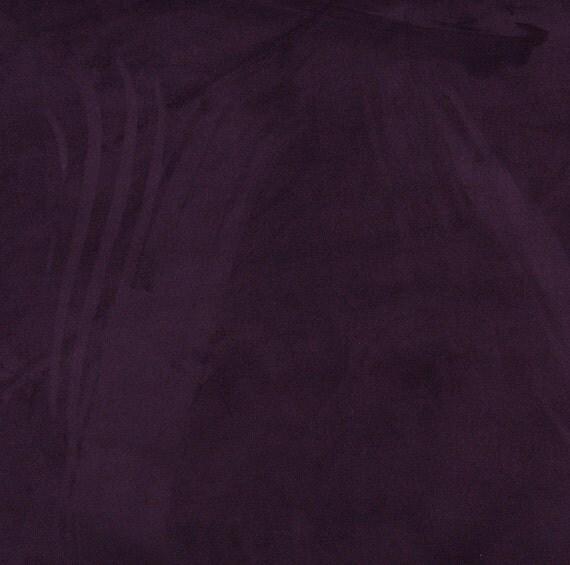 Items similar to dark purple microsuede upholstery fabric for Purple upholstery fabric