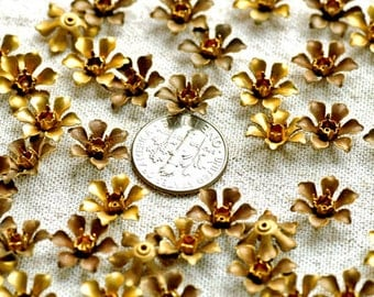 13mm Vintaged Style Raw Brass Filigree Stamping Flower Finding rbf17(24pcs)