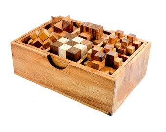 6 Games Wooden Puzzle Set