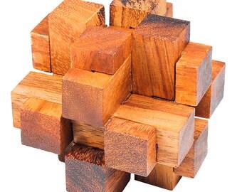 3D Square Cube Wooden Puzzle
