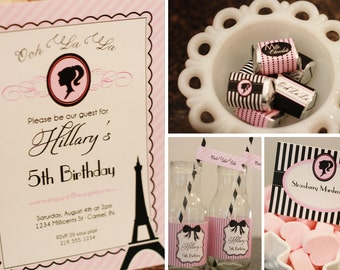 Fashion Fairytale in Paris printable Party Set