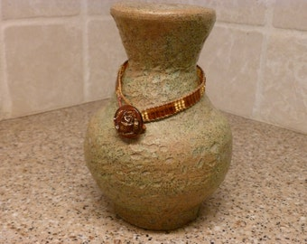 Leather and Tila Bead Bracelet
