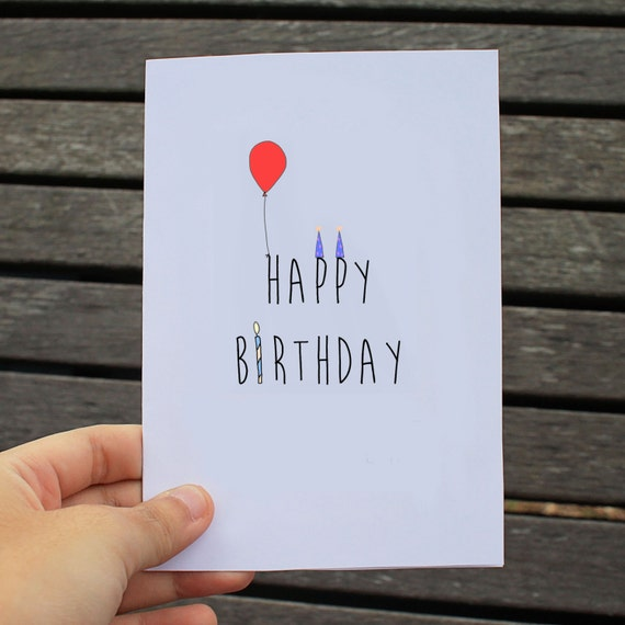 items similar to happy birthday typography card on etsy