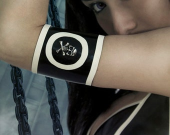 ROKKU latex  accessory ARMBAND with skull