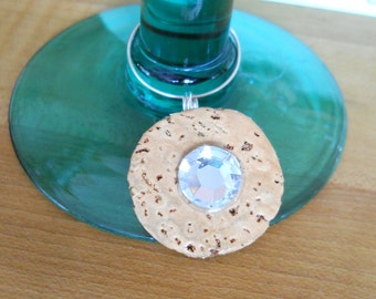 Wine Charms from Recycled Champagne Corks