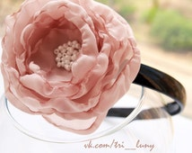 Textile flower on top