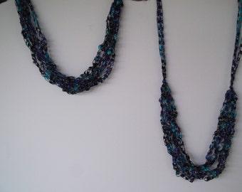 Majestic Ladder Trellis Yarn Necklace