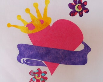 Princess Quilt Applique Pattern Design (easy)