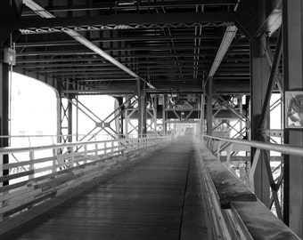 Black and White Holton Street Bridge Milwaukee Wisconsin Leading Lines Fine Art Photo Print Home Wall Decor by Rose Clearfield on Etsy