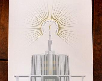 Seattle Washington LDS Temple 13x19 Print