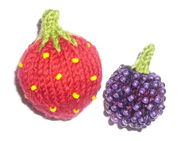 Strawberry Raspberry and Blackberry Knitting Patterns pdf