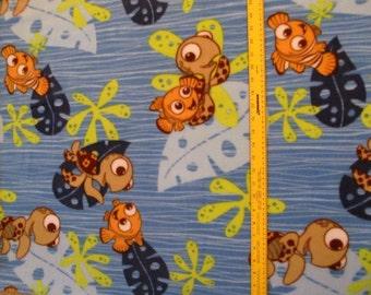 Licensed Finding Nemo Fleece Fabric BTY RARE VHTF