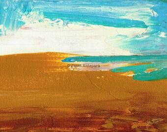 Dockweiler Beach Fine Art Print, Abstract Art, Modern Art, Minimalistic Art, Beach Art, Nautical Art, California Art, Los Angeles Art