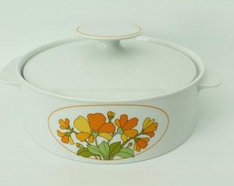 Vintage Thomas Germany ceramic bowl with lid