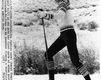 Vintage Original photograph Cheryl Tiegs - Aspen, Co. dated: 11/15/78 (Television)---FREE SHIPPING !!!