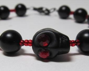 Vampire's Ball Skull Bracelet Dia De La Muertos Halloween