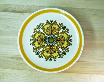 Yellow Flower Hand Painted Plates