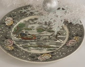 Perfect for Holiday entertaining. N. Currier Lithograph New York decorative plate
