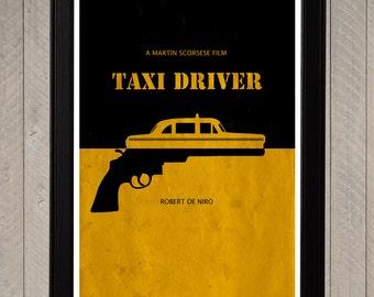 Taxi Driver Minimalist Poster, Movie Poster, Art Print