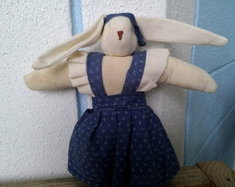 "Vintage Cloth Bunny  7 1/2"" tall"