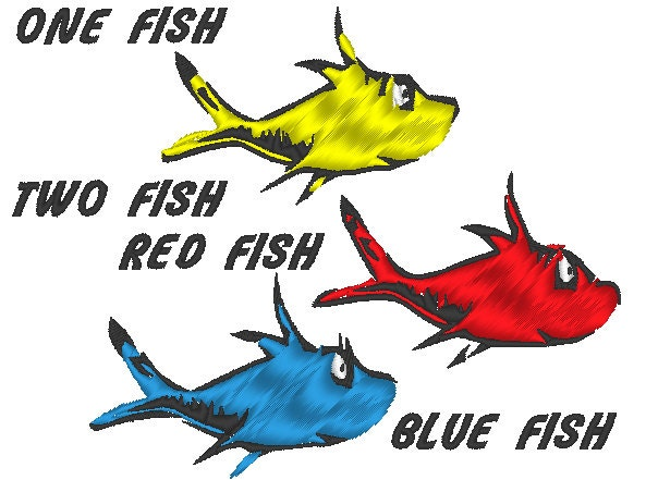 Red Fish Dr Seuss Popular items for one fish two fish on etsy