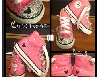 High Top Minnie Mouse Bling Converse