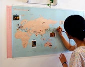 Travel World Map [ 2 Types - Mint, Candy]