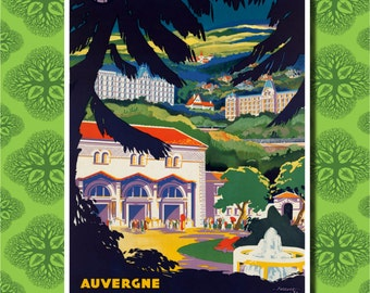 Auvergne France Travel Poster Wall Decor (7 print sizes available)