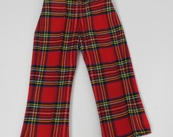vintage steampunk stewart plaid pants Courtelle for Stix Baer & Fuller made in England pant