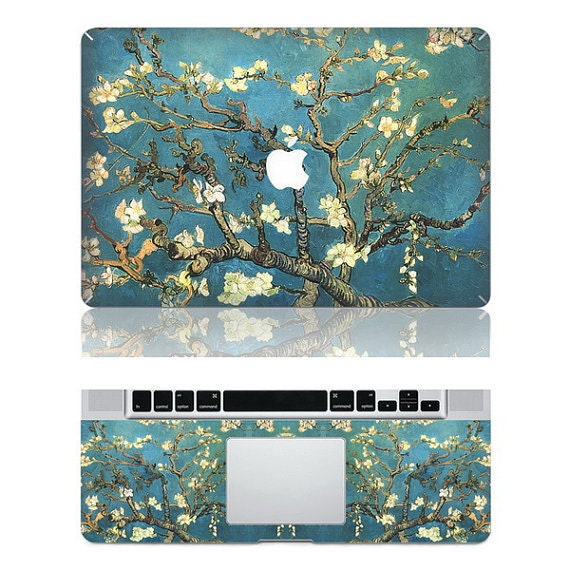 Van Gogh's Almond Blossom--Macbook Protective Decals Stickers Mac Cover Skins Vinyl Case for Apple Laptop Macbook Pro/Macbook Air