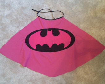 Girls Batman Cape - Other sizes and colors available