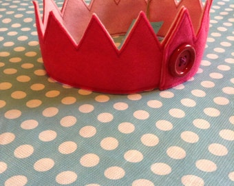 Felt Playtime Crown (available in 5 color combinations for boys and girls)
