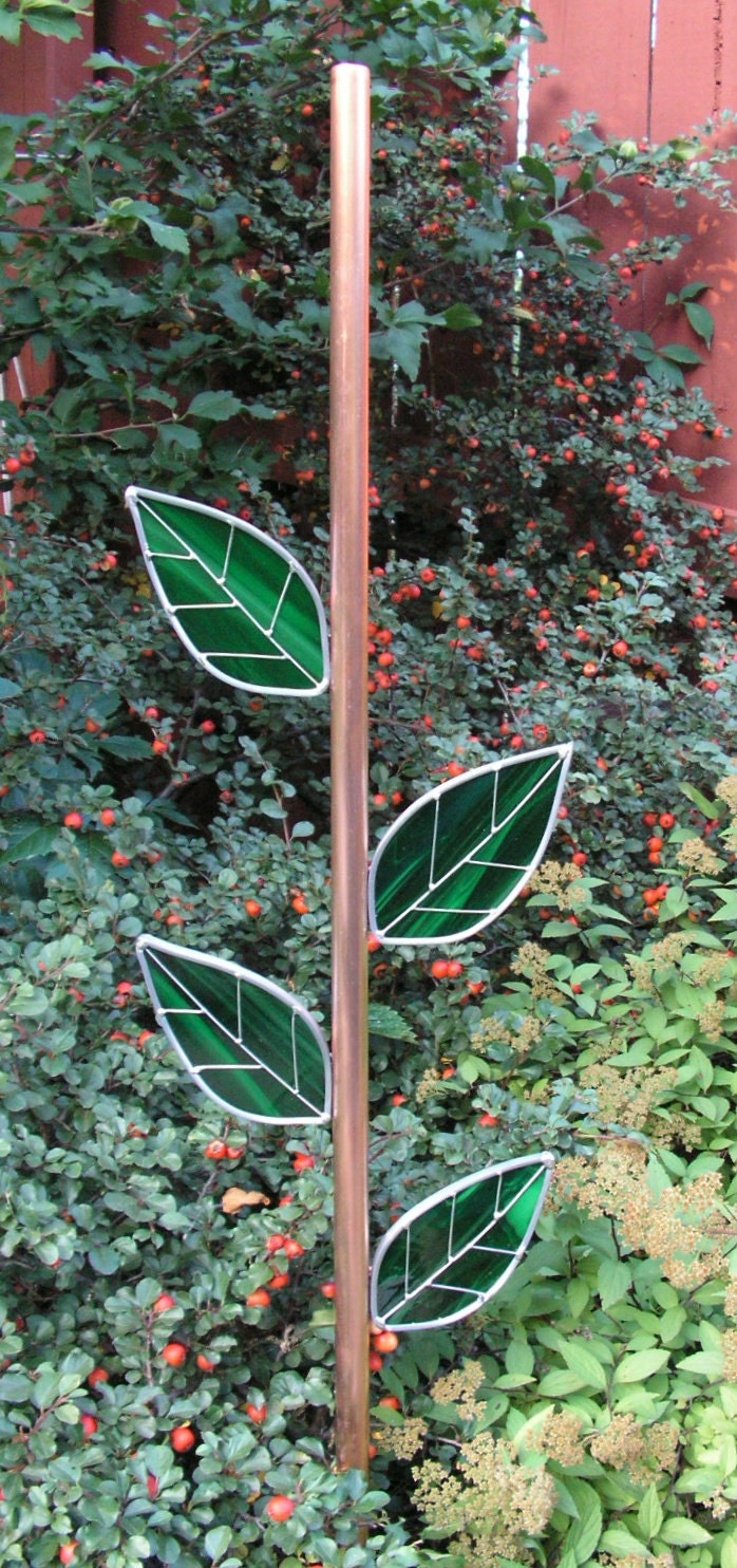 Copper Stem Rebar Cover For Your Plate Flower With Stained