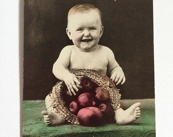 """Adorable """"You are the Apple of my Eye"""" Vintage Postcard -1917"""