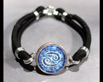 CANCER Zodiac Sign 6/22-7/22 Astrology Dime Stretch Bracelet - One size fits most - Made In USA
