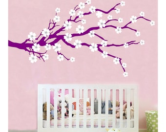Cherry Blossom Wall Decal sticker art  room decor branch flower  JA06