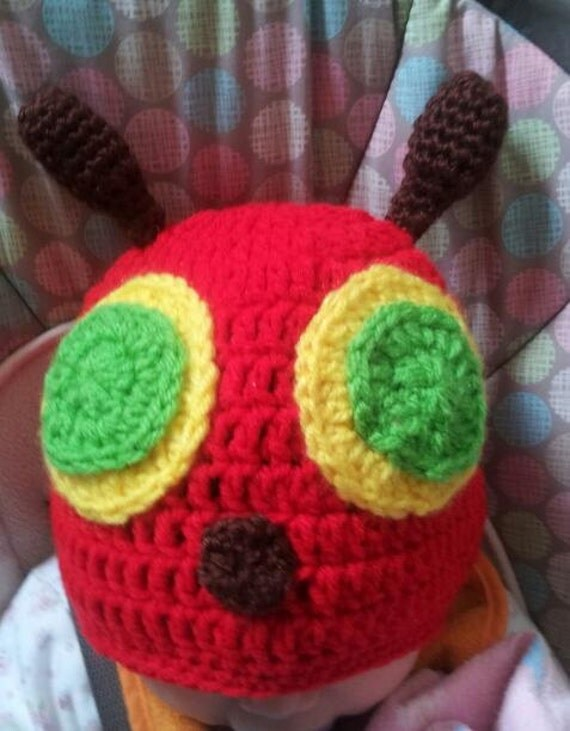 Very Hungry Caterpillar Crochet Hat Pattern Free : Crochet Hungry Caterpillar hatknitted hungry by ...