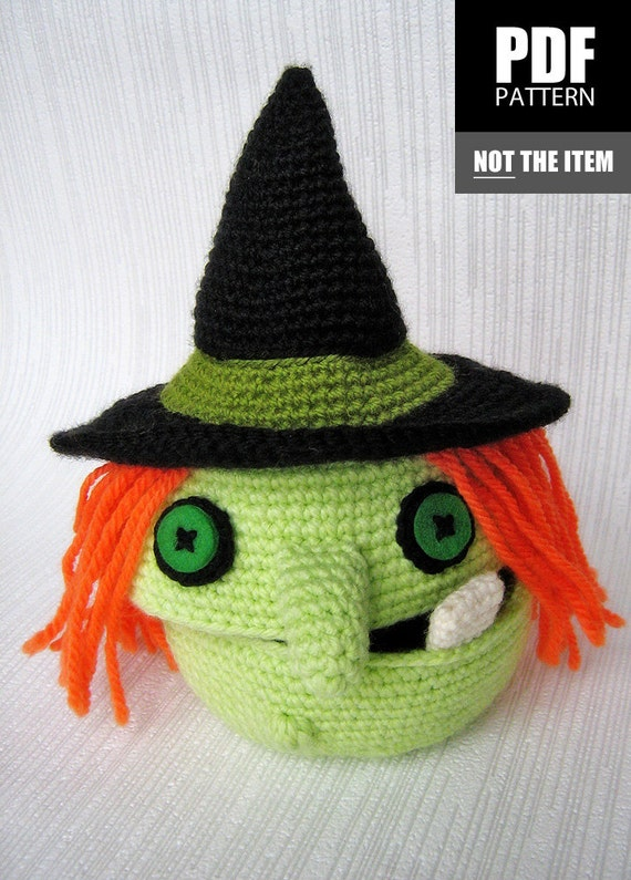 PDF PATTERN Crochet Halloween Witch Box Of by CuteCrochetPatterns