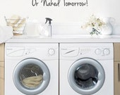 Items similar to Clothesline laundry today or naked