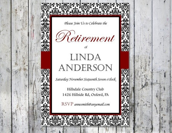 Retirement Party Invite – Surprise Retirement Party Invitation