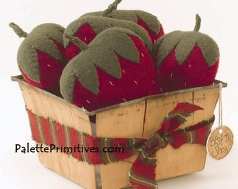 Basket of Strawberries Pincushion   E-pattern / Instant download