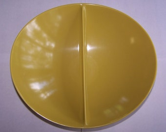 Divided Serving Dish - Florence Prolon Goldenrod – Used Very Good Condition