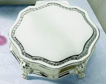Princess Victorian Jewelry Box-- Free Engraving